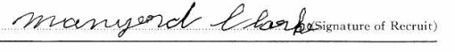 Manyard Clark signature