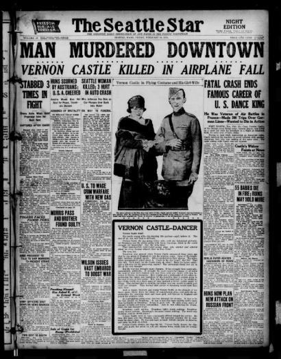 Seattle Star 15th Feb 1918