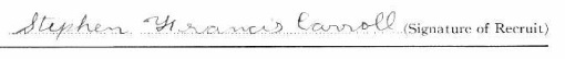 Stephen Francis Carroll's signature