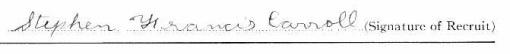 Stephen Francis Carroll's signature
