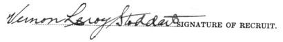 Vernon Leroy Stoddart signature