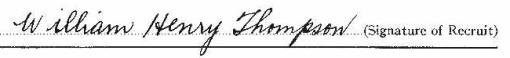 William Henry Thompson signature