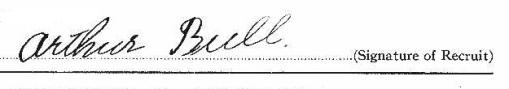 Arthur Bull signature