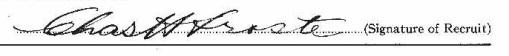 Charles Herbert Froste signature