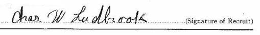 Charles Warren Ludbrook signature