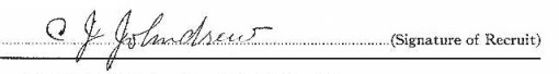 Clarence Joseph Johndrew signature