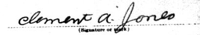 Clement A. Jones signature