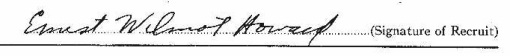 Ernest Wilmot Howard signature