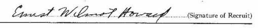 Ernest Wilmot Howard signature