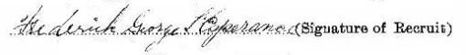 Frederick George L'Esperance signature