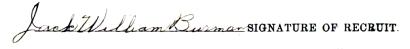 Jack William Burman signature