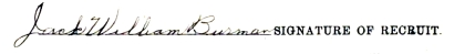 Jack William Burman signature
