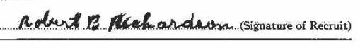 Robert Bertram Richardson signature
