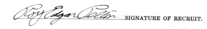 Roy Edgar Pelton signature