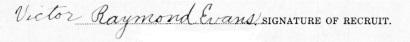 Victor Raymond Evans signature