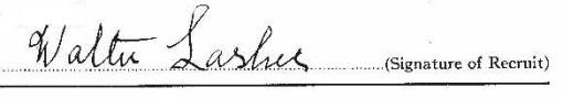 Walter Lasher signature