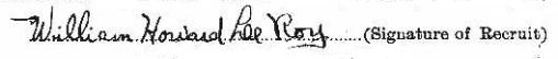 William Howard Leeroy signature