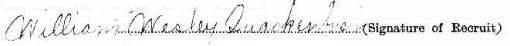 William Wesley Quackenbush signature