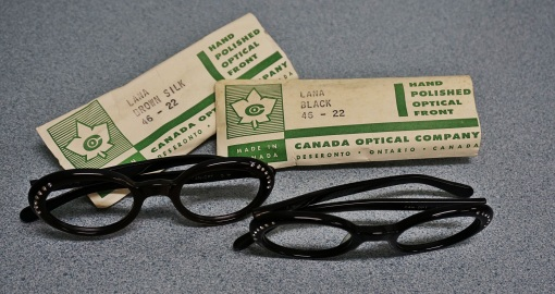 2015.09 two pairs of glasses made by Canada Optical