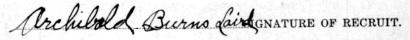 Archibald Burns Laird signature