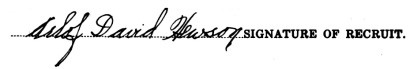 Arlof David Hewson signature