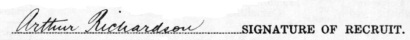 Arthur Richardson signature