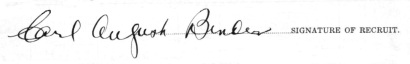Carl August Bender signature