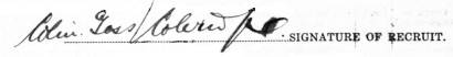 Colin Goss Coleridge signature