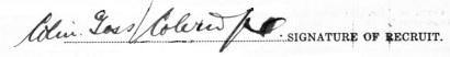 Colin Goss Coleridge signature
