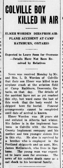 Elmer Worden death report
