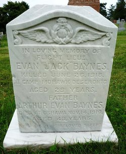 Evan John Baynes headstone