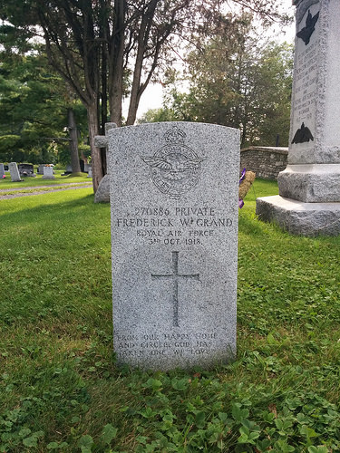 Frederick William Grand's headstone