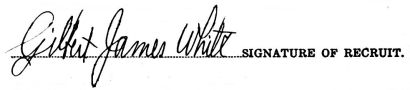 Gilbert James White signature