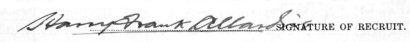 Harry Frank Allardice signature