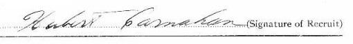 Hubert Carnahan signature