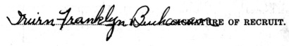 Irwin Franklyn Buchanan signature