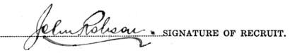 John Robson signature