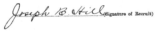 Joseph Bernard Hill signature