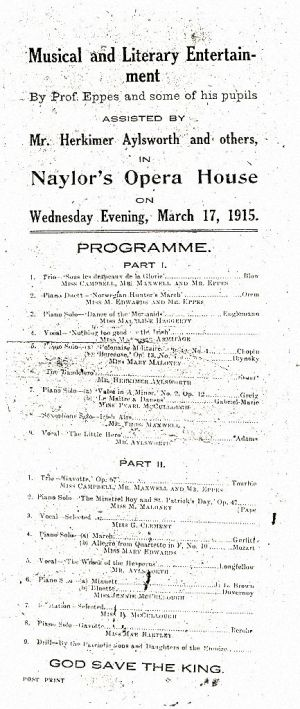 Musical entertainment program