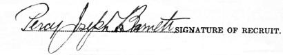 Percy Joseph Barnett signature