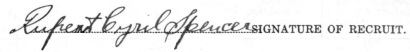 Rupert Cyril Spencer signature