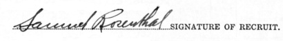 Samuel Rosenthal signature