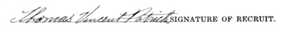 Thomas Vincent Patrick signature