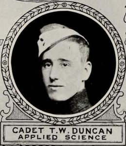 Thomas Wilfrid Duncan photo in The Varsity magazine, Toronto