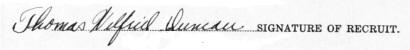 Thomas Wilfrid Duncan signature