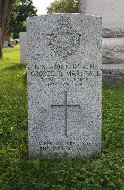 George Dallas Marshall headstone