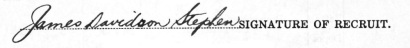James Davidson Stephen signature