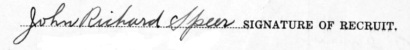 John Richard Speer signature