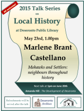 Poster for History talk, May 23rd, 2015