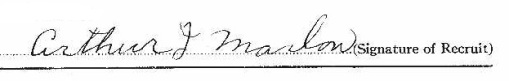 Arthur Joseph Marlow signature
